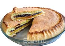 Трехслойный пирог курага чернослив